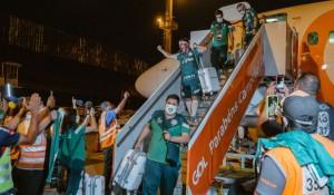 Gol fretou voo para retorno do time campeão da Libertadores