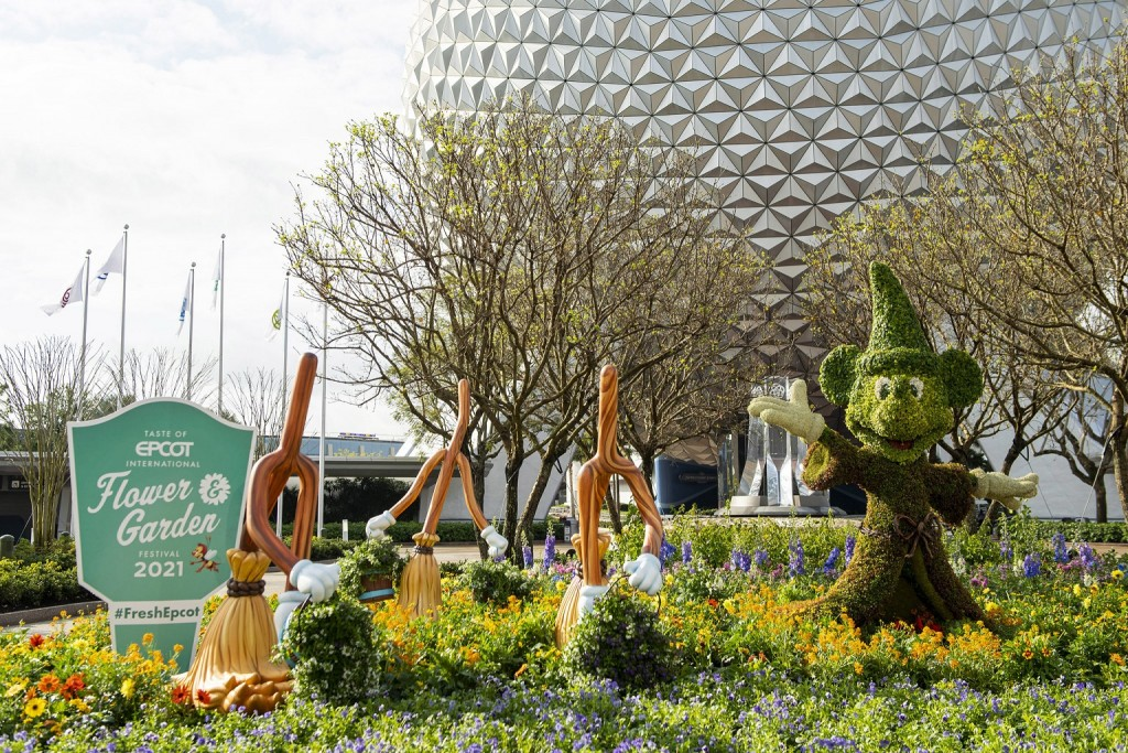 The Taste of EPCOT International Flower & Garden Festival blossoms to life March 3-July 5, 2021, at Walt Disney World Resort in Lake Buena Vista, Fla. The park-wide event features fun for the whole family inspired by the season, from spectacular Disney character topiaries to lush gardens to fresh flavors from Outdoor Kitchens and more. (David Roark, photographer)