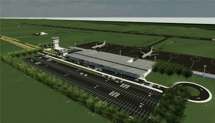 Projeto do Aeroporto Regional da Serra Gaúcha, que ficará no distrito de Vila Oliva