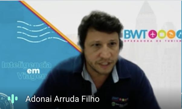 Adonai Arruda Filho, diretor geral da BWT Operadora, durante a coletiva de lançamento do novo posicionamento.