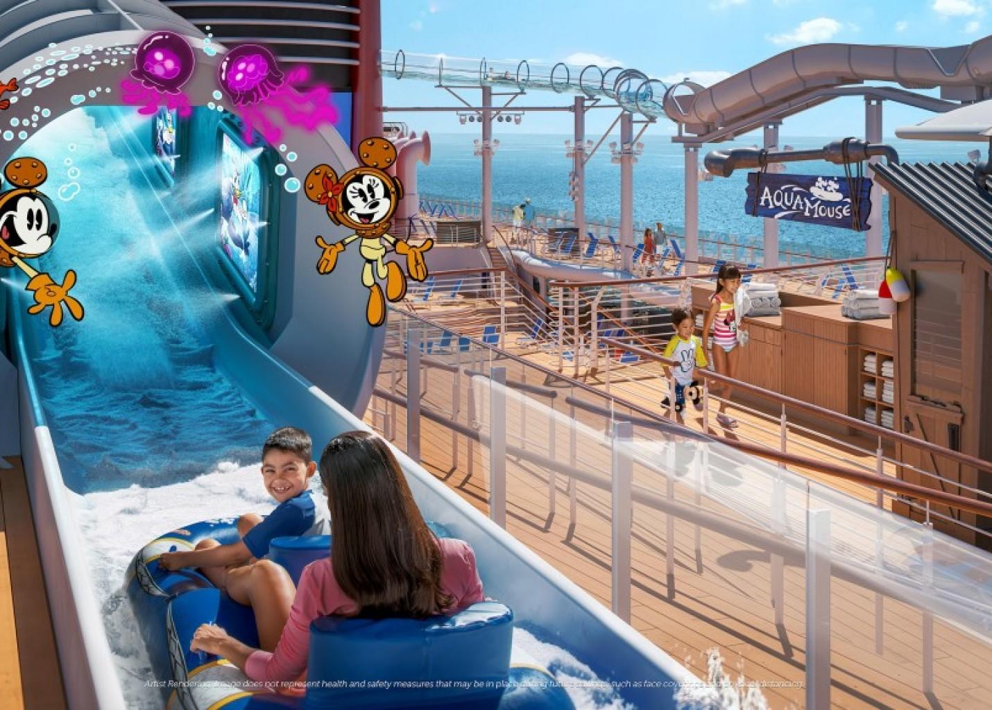 Disney Wish terá atração aquática inédita, bar de Star Wars e mais novidades; fotos