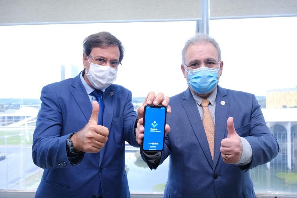 Gilson Machado Neto e Marcelo Qureiroga, ministros do Turismo e da Saúde, respectivamente