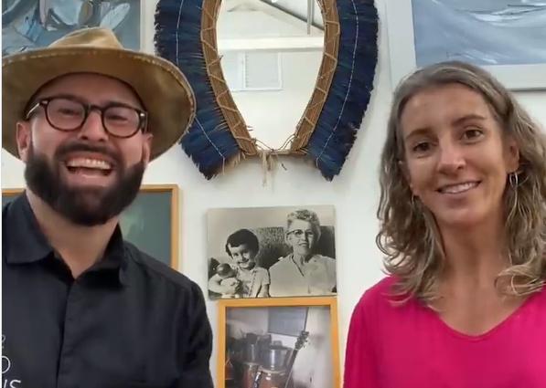 Paulo Machado e Polianna Thomé, sócios da Brasil Food Safari (Reprodução Instagram)