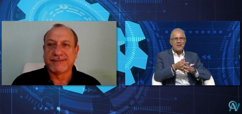 Toni Sando com Otavio Neto, organizador do Esfe