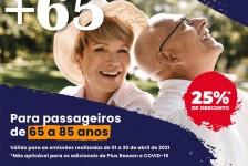 GTA prorroga promoção especial para viajantes acima de 65 anos