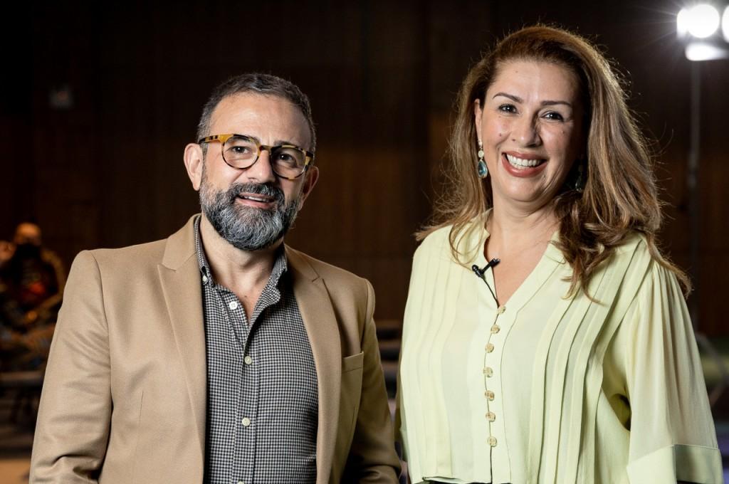 Geninho Góes e Margot Rosenbrock Libório, CEO da BNT Mercosul e presidente do Balneário Camboriú CVB