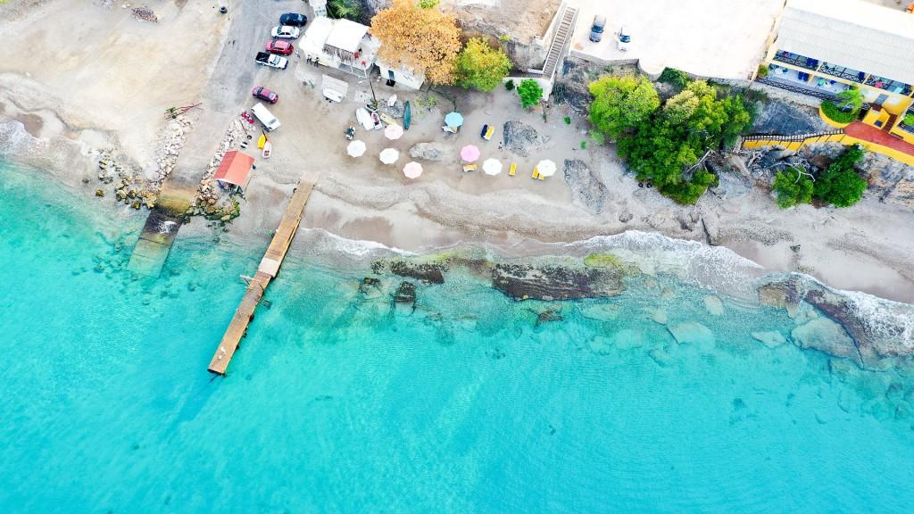 Praia de Cas Abao, uma das mais belas de Curaçao.