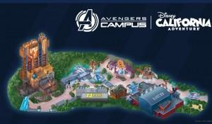 Disney revela mapa do 'Avengers Campus' e fila virtual para atração do Homem-Aranha