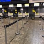 Balcões de check-in da ITA, no terminal 2 de Guarulhos
