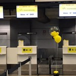 Check-in do voo 001 da ITA, no Gru Airport