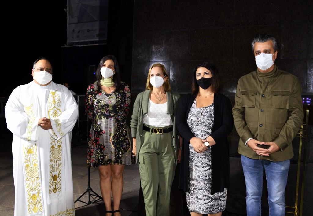 DSC_5694 Padre Omar , Sofia Debora Levy , Sonia Chami , Eliane Cristina e Berthaldo Soares - Junho 2021- CG
