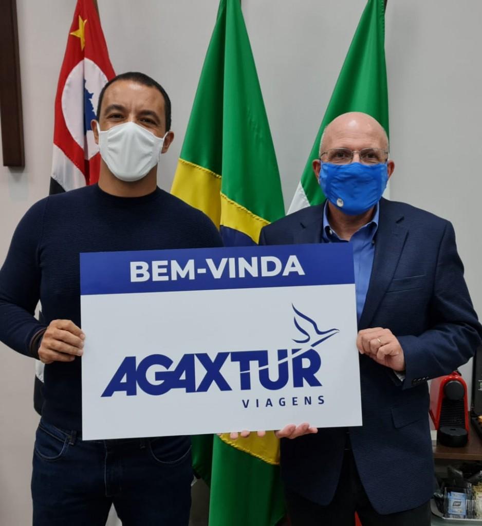 Rogério Lins, prefeito de Osasco, com Aldo Leone Filho, CEO da Agaxtur