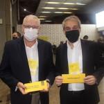 William Périco, da Wings Turismo, e Fernando Santos, presidente da Abav-SP