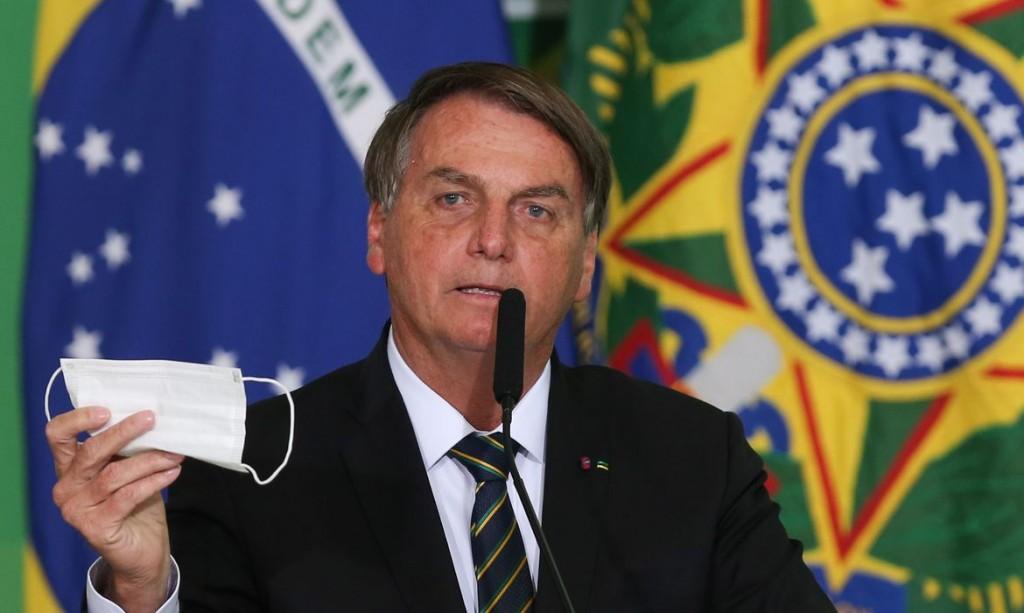 O presidente da República,Jair Bolsonaro, discursa durante a solenidade de anúncio do Sistema de Avaliação de Impacto ao Patrimônio e lançamento do Guia Brasileiro de Sinalização Turística.
