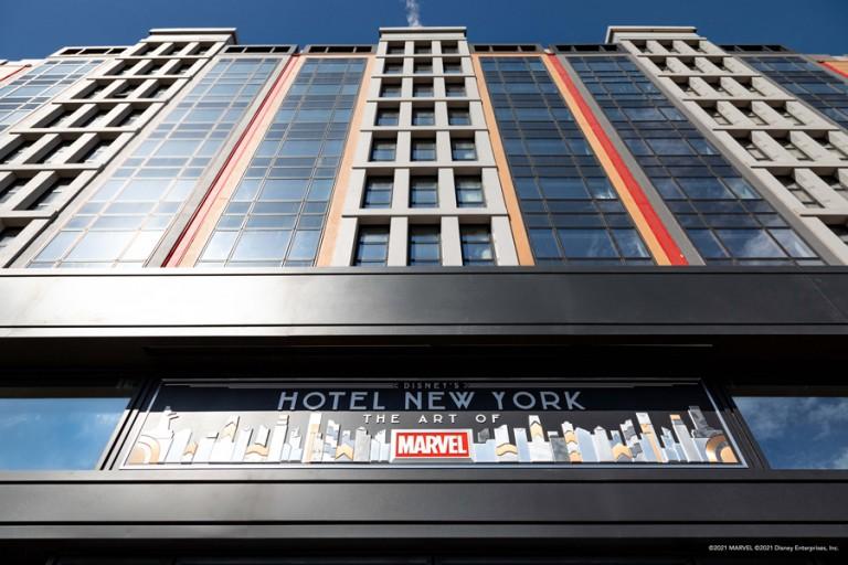 Fachada do novo hotel