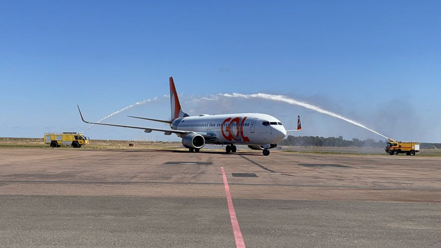 Batismo da aeronave da Gol no Aeroporto de Sinop