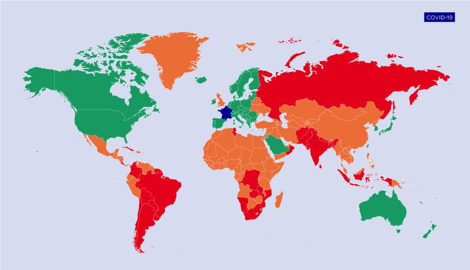 Classificação de países para entrada na França