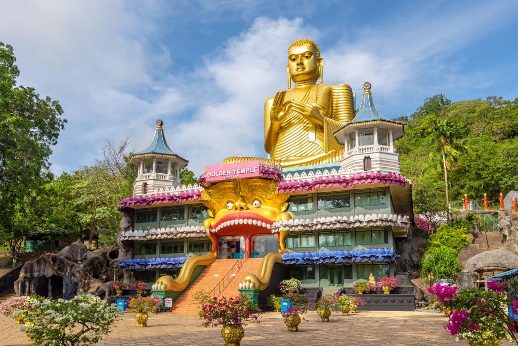 buddha museum of dambulla golden temple, sri lanka