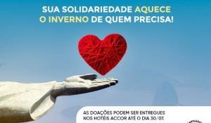 Accor lança campanha do agasalho no Rio de Janeiro