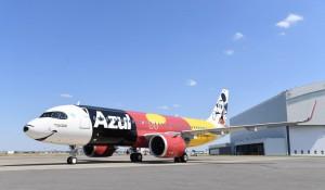 Azul divulga imagens inéditas da primeira aeronave em parceria com a Disney