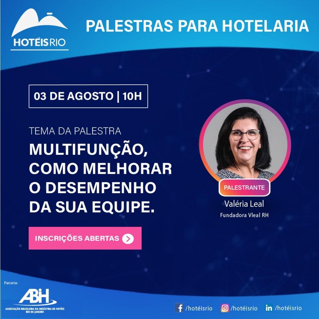 ABIH-RJ promove palestra gratuita com a especialista em RH Valéria Leal