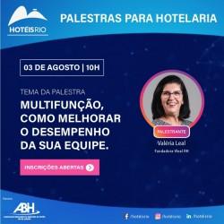 ABIH-RJ promove palestra para melhorar desempenho das equipes hoteleiras