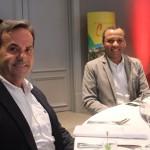 Cláudio Horácio, da CH, com Paulo Cruz, da Air France KLM