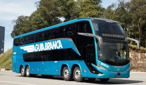 Viação Águia Branca inicia operações com ônibus mais moderno do Brasil