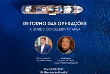 Ricardo Amaral realiza live a bordo do Celebrity Apex agora às 10h