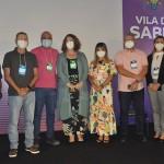 Carina Camara e Suilany Teixeira com empresários da Rota das Emoções