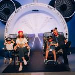 Fernanda Floret e família estão preparados para viajar no avião - Mickey Mouse nas nuvens