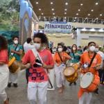 Festa de Pernambuco no anúncio da sede da Abav Expo 2022