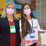 Ivanilde Pinheiro e Amanda Linhares, da Secretaria de Turismo de Fortaleza