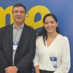 Jeferson Munhoz, da Escola de Resultados, e Raquel Pinheiro, da MB Empreendimentos