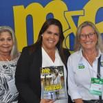 Lucia Bichara e Cristiane Bacelar, da Secretaria de Turismo de Camaçari, com Rosa Masgrau, do M&E