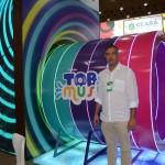 Murilo Paschoal, CEO do Beach Park, mostra a nova atração Tobo Music, apresentada na Abav Expo