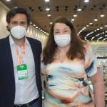 Rodrigo Novaes, secretário de Turismo de Pernambuco, e Magda Nassar, presidente da Abav Nacional